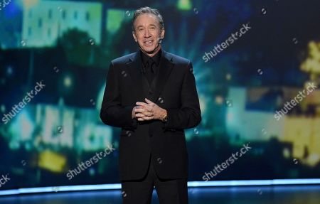 Stock Image of Tim Allen speaks at the 71st Primetime Emmy Awards, at the Microsoft Theater in Los Angeles