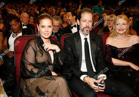 Amy Adams, Darren Le Gallo, Patricia Clarkson. Amy Adams, from left, Darren Le Gallo, and Patricia Clarkson in the audience at the 71st Primetime Emmy Awards, at the Microsoft Theater in Los Angeles