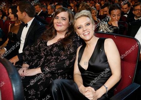 Aidy Bryant, Kate McKinnon. Aidy Bryant, left, and Kate McKinnon in the audience at the 71st Primetime Emmy Awards, at the Microsoft Theater in Los Angeles