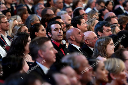 Sacha Baron Cohen in the audience at the 71st Primetime Emmy Awards, at the Microsoft Theater in Los Angeles