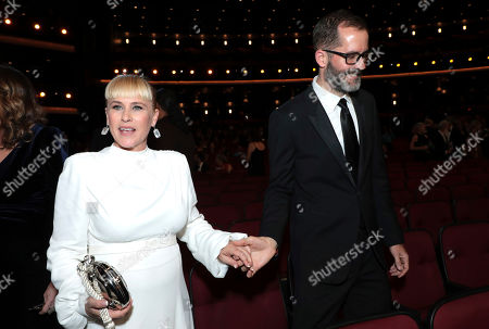 Patricia Arquette, Eric White. Patricia Arquette, left, and Eric White in the audience at the 71st Primetime Emmy Awards, at the Microsoft Theater in Los Angeles