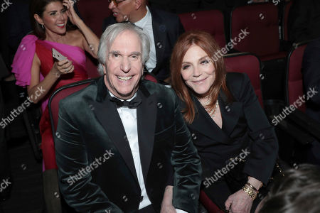 Stock Image of Henry Winkler, Stacey Weitzman. Henry Winkler, left, and Stacey Weitzman pose in the audience at the 71st Primetime Emmy Awards, at the Microsoft Theater in Los Angeles