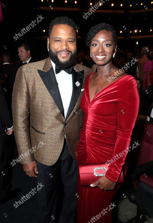 Anthony Anderson, Alvina Stewart. Anthony Anderson, left, and Alvina Stewart pose in the audience at the 71st Primetime Emmy Awards, at the Microsoft Theater in Los Angeles