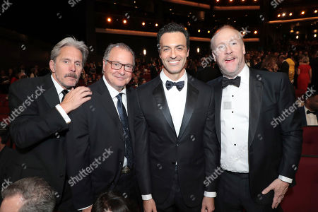 Gary Cole, Kevin Dunn, Reid Scott, Matt Walsh. Gary Cole, from left, Kevin Dunn, Reid Scott, and Matt Walsh pose in the audience at the 71st Primetime Emmy Awards, at the Microsoft Theater in Los Angeles