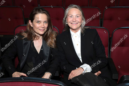 Sophie Huber, Cherry Jones. Sophie Huber, left, and Cherry Jones pose in the audience at the 71st Primetime Emmy Awards, at the Microsoft Theater in Los Angeles