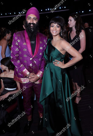 Kanwer Singh, Lilly Singh. Kanwer Singh, left, and Lilly Singh pose in the audience at the 71st Primetime Emmy Awards, at the Microsoft Theater in Los Angeles