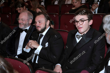 Liam Cunningham, John Bradley, Isaac Hempstead Wright. Liam Cunningham, from left, John Bradley, and Isaac Hempstead Wright in the audience at the 71st Primetime Emmy Awards, at the Microsoft Theater in Los Angeles