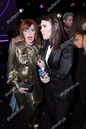 Natasha Lyonne, Clea DuVall. Natasha Lyonne, left, and Clea DuVall pose in the audience at the 71st Primetime Emmy Awards, at the Microsoft Theater in Los Angeles