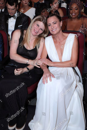 Cheryl Maisel, Robin Wright. Xxx at the 71st Primetime Emmy Awards, at the Microsoft Theater in Los Angeles
