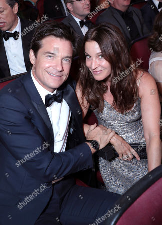 Jason Bateman, Amanda Anka. Jason Bateman, left, and Amanda Anka pose in the audience at the 71st Primetime Emmy Awards, at the Microsoft Theater in Los Angeles