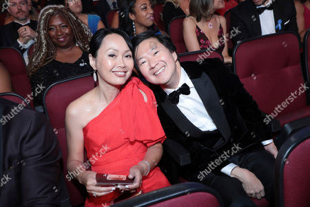 Tran Jeong, Ken Jeong. Tran Jeong, left, and Ken Jeong pose in the audience at the 71st Primetime Emmy Awards, at the Microsoft Theater in Los Angeles