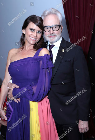 Amy Landecker, Bradley Whitford. Amy Landecker, left, and Bradley Whitford pose in the audience at the 71st Primetime Emmy Awards, at the Microsoft Theater in Los Angeles