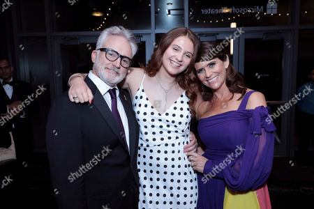 Bradley Whitford, Mary Louisa Whitford, Amy Landecker. Bradley Whitford, from left, Mary Louisa Whitford, and Amy Landecker pose in the audience at the 71st Primetime Emmy Awards, at the Microsoft Theater in Los Angeles