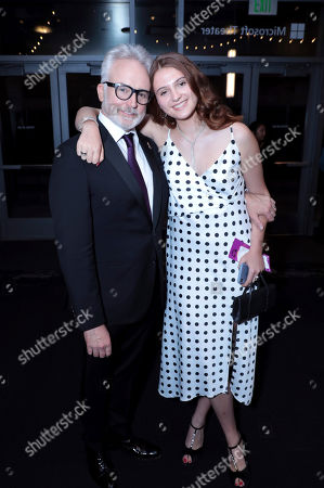 Bradley Whitford, Mary Louisa Whitford. Bradley Whitford, left, and Mary Louisa Whitford pose in the audience at the 71st Primetime Emmy Awards, at the Microsoft Theater in Los Angeles