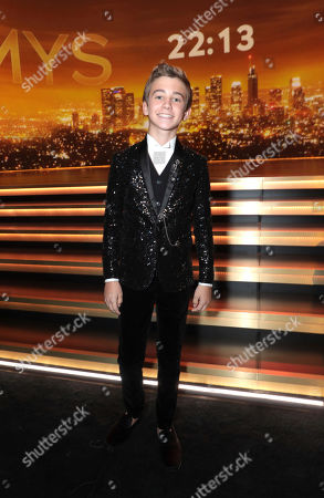 Parker Bates poses in the audience at the 71st Primetime Emmy Awards, at the Microsoft Theater in Los Angeles