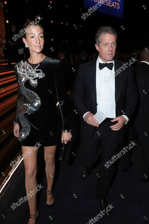 Anna Elisabet Eberstein, Hugh Grant. Anna Elisabet Eberstein, left, and Hugh Grant at the 71st Primetime Emmy Awards, at the Microsoft Theater in Los Angeles