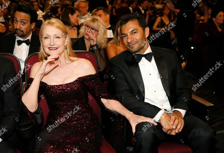 Patricia Clarkson, Darwin Shaw. Patricia Clarkson, left, and Darwin Shaw in the audience at the 71st Primetime Emmy Awards, at the Microsoft Theater in Los Angeles