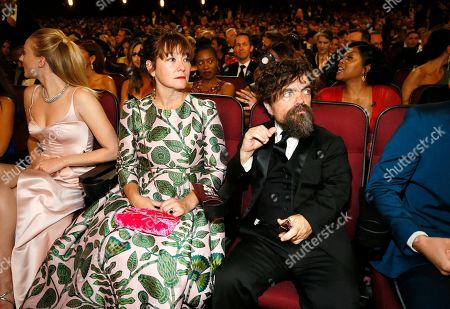Erica Schmidt, Peter Dinklage. Erica Schmidt, left, and Peter Dinklage in the audience at the 71st Primetime Emmy Awards, at the Microsoft Theater in Los Angeles