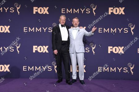 Stellan Skarsg'rd, Jared Harris. Stellan Skarsgard, left, and Jared Harris pose in the press room at the 71st Primetime Emmy Awards, at the Microsoft Theater in Los Angeles