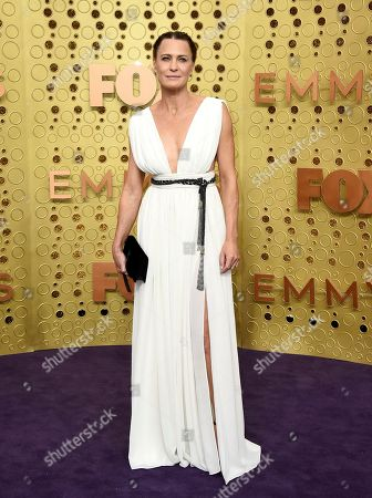 Robin Wright arrives at the 71st Primetime Emmy Awards, at the Microsoft Theater in Los Angeles