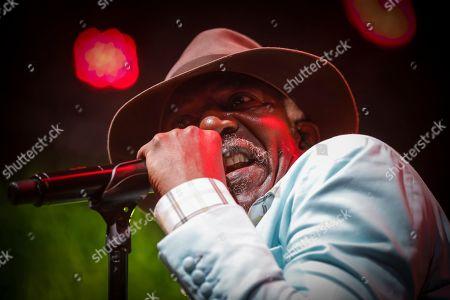Ivorian reggae legend Seydou Kone, better known by his artistic name Alpha Blondy, performs in Nairobi, Kenya, 22 September 2019. The 66-year-old African reggae legend headlined the Kenyan music event Koroga Festival.