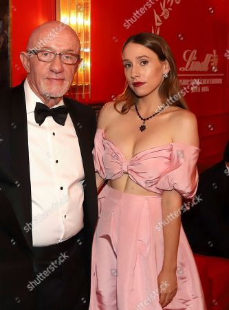 Jonathan Banks, Sarah Sutherland. Jonathan Banks, left, and Sarah Sutherland pose at the Lindt Chocolate Lounge at the 71st Primetime Emmy Awards, at the Microsoft Theater in Los Angeles