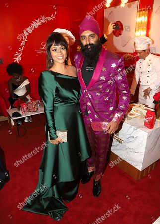 Lilly Singh, Humble the Poet. Lilly Singh, left, and Humble the Poet pose at the Lindt Chocolate Lounge at the 71st Primetime Emmy Awards, at the Microsoft Theater in Los Angeles