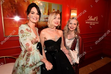 From left, Lena Headey, Naomi Watts, and Gwendoline Christie attend the 71st Primetime Emmy Awards, at the Microsoft Theater in Los Angeles