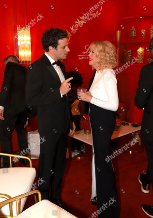 Luke Kirby, Catherine O'Hara. Luke Kirby, left, and Catherine O'Hara at the Lindt Chocolate Lounge at the 71st Primetime Emmy Awards, at the Microsoft Theater in Los Angeles