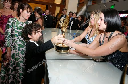 "Peter Dinklage, winner of the award for outstanding drama series for ""Game Of Thrones"" at the 71st Primetime Emmy Awards, at the Microsoft Theater in Los Angeles"