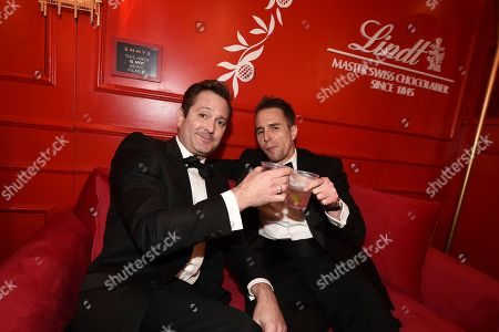 Thomas Lennon and Sam Rockwell attend the 71st Primetime Emmy Awards, at the Microsoft Theater in Los Angeles