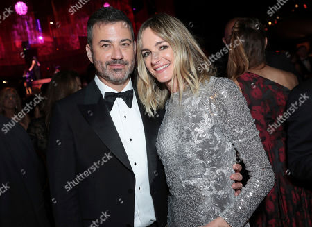 Jimmy Kimmel, Molly McNearney. Jimmy Kimmel, left, and Molly McNearney attend the 71st Primetime Emmy Awards Governors Ball, at the Microsoft Theater in Los Angeles
