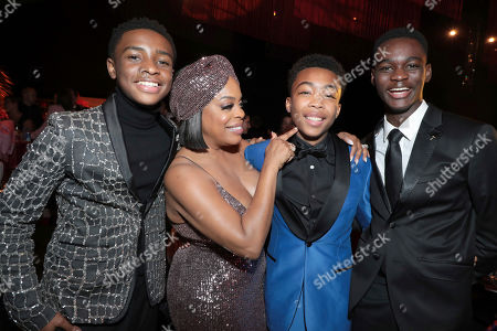 Caleel Harris, Niecy Nash, Asante Blackk, Ethan Herisse. Caleel Harris, from left, Niecy Nash, Asante Blackk and Ethan Herisse attend the 71st Primetime Emmy Awards Governors Ball, at the Microsoft Theater in Los Angeles