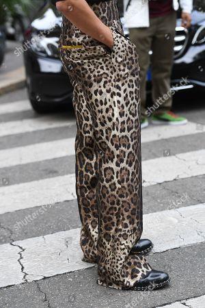 Editorial image of Street Style, Spring Summer 2020, Milan Fashion Week, Italy - 22 Sep 2019