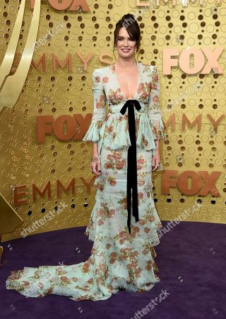 Lena Headey arrives at the 71st Primetime Emmy Awards, at the Microsoft Theater in Los Angeles