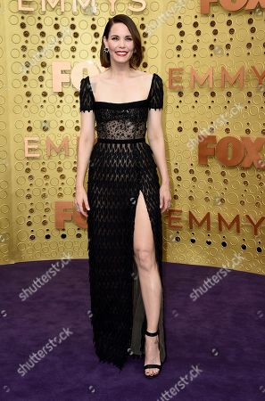 Leslie Bibb arrives at the 71st Primetime Emmy Awards, at the Microsoft Theater in Los Angeles
