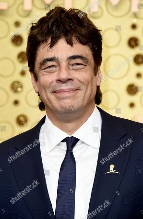 Benicio del Toro arrives at the 71st Primetime Emmy Awards, at the Microsoft Theater in Los Angeles