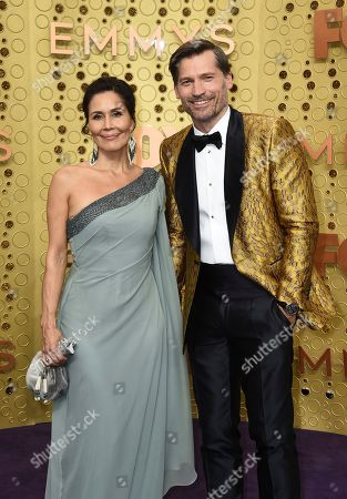 Stock Photo of Nukaaka Coster-Waldau, Nikolaj Coster-Waldau. Nukaaka Coster-Waldau, left, and Nikolaj Coster-Waldau arrive at the 71st Primetime Emmy Awards, at the Microsoft Theater in Los Angeles