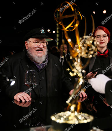 "George R. R. Martin, winner of the award for outstanding drama series for ""Game of Thrones"" attends the Governors Ball winners circle at the 70th Primetime Emmy Awards, at the Microsoft Theater in Los Angeles"