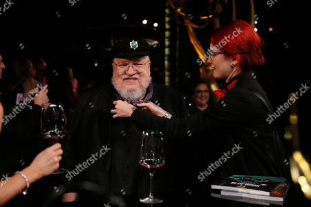 "George R. R. Martin, winner of the award for outstanding drama series for ""Game of Thrones,"" attends the Governors Ball winners circle at the 70th Primetime Emmy Awards, at the Microsoft Theater in Los Angeles"