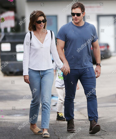 Editorial image of Katherine Schwarzenegger, Chris Pratt and Jack Pratt out and about, Los Angeles, USA - 22 Sep 2019