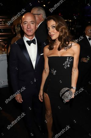 Stock Photo of Jeff Bezos, Bethany Frankel. Jeff Bezos and Bethany Frankel attend the 71st Primetime Emmy Awards Governors Ball, at the Microsoft Theater in Los Angeles