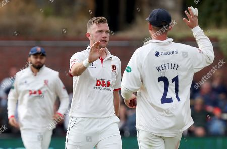 Sam Cook of Essex celebrates taking the wicket of Steve Davies during Somerset CCC vs Essex CCC, Specsavers County Championship Division 1 Cricket at The Cooper Associates County Ground on 23rd September 2019