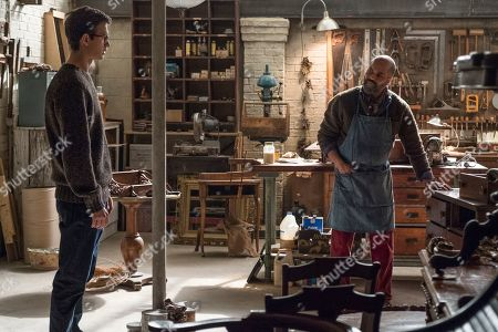 Ansel Elgort as Adult Theo Decker and Jeffrey Wright as Hobie