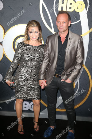 US actress Lauren Sivan (L) and Welsh actor Andrew Howard arrive for the HBO Emmy Awards After Party at the Pacific Design Center in West Hollywood, California, USA, late 22 September 2019. The party took place after the 71st Primetime Emmy Awards ceremony in Los Angeles.