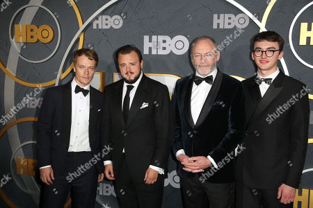 Drama Series 'Game Of Thrones' cast members Alfie Allen, John Bradley-West, Liam Cunningham and Isaac Hempstead Wright arrive for the HBO Emmy Awards After Party at the Pacific Design Center in West Hollywood, California, USA, late 22 September 2019. The party took place after the 71st Primetime Emmy Awards ceremony in Los Angeles.