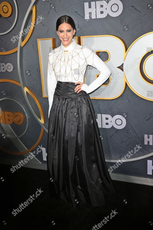 Jackie Tohn arrives for the HBO Emmy Awards After Party at the Pacific Design Center in West Hollywood, California, USA, late 22 September 2019. The party took place after the 71st Primetime Emmy Awards ceremony in Los Angeles.