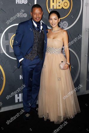 Terrence Howard (L) and Mira Howard (R) arrive for the HBO Emmy Awards After Party at the Pacific Design Center in West Hollywood, California, USA, late 22 September 2019. The party took place after the 71st Primetime Emmy Awards ceremony in Los Angeles.