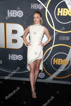 Sophie Turner arrives for the HBO Emmy Awards After Party at the Pacific Design Center in West Hollywood, California, USA, late 22 September 2019. The party took place after the 71st Primetime Emmy Awards ceremony in Los Angeles.