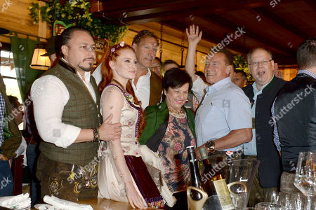 Arnold Schwarzenegger, Barbara Meier, Klemes Hall, Ralf Moeller